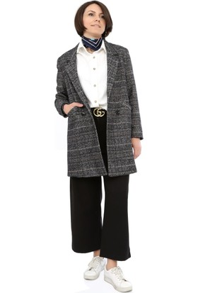 Tasarım Atölyesi Kadın Gri Kareli Ceket