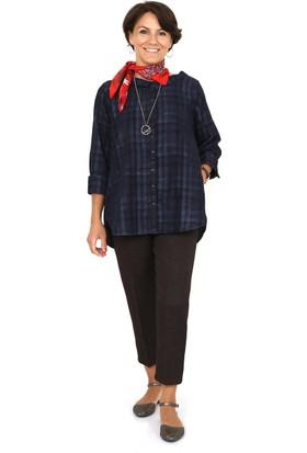 Tasarım Atölyesi Kadın Lacivert Kareli Gömlek