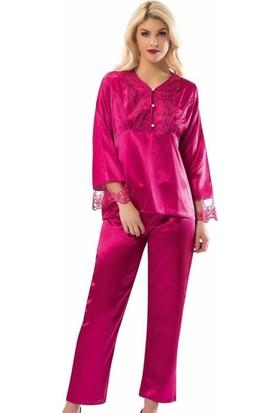 Sistina Sistina Kadın Saten Pijama Takım 1595