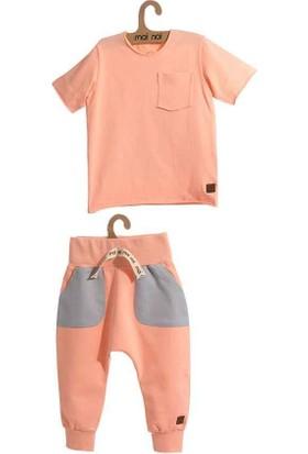 Moi Noi Cepli Bebe Tshirt Takım 4048-30 3 - 6 Ay