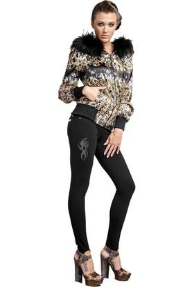 Dodona 1502 Swarovski Taşlı Likralı Kışlık Tayt Kışlık Pantolon