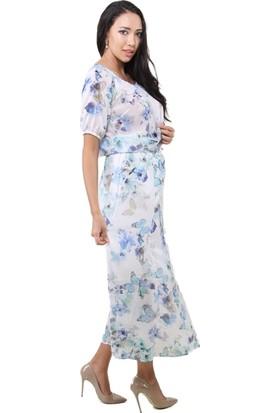 Dodona 2883 Tasarım Beyaz Yazlık Bluz