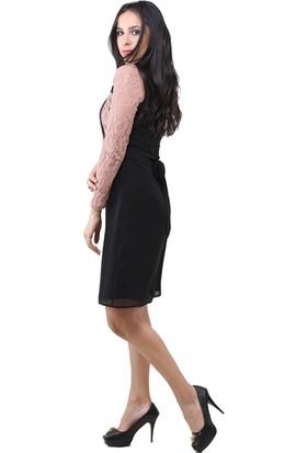 Dodona 3177 Özel Tasarım Şık Abiye Gece Kışlık Elbise