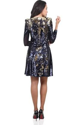 Dodona 3474 Özel Tasarım Payetli Kışlık Gece Elbisesi