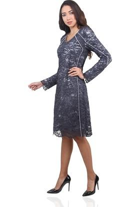 Dodona 3477 Özel Tasarım Kışlık Gece Elbisesi