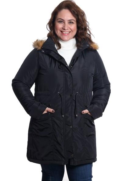 Sems Kadın Mont 5019 Siyah