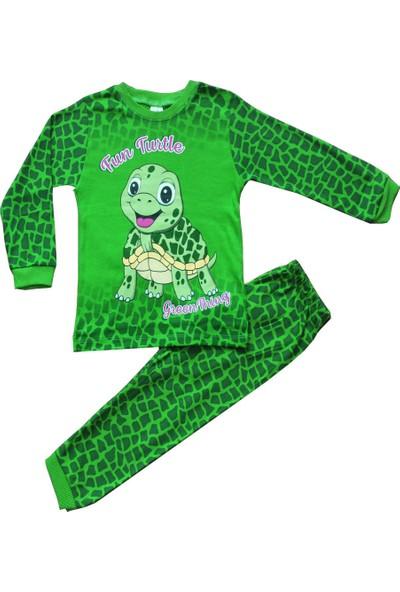 Süpermini Kaplumbağa Figürlü 4-5-6 Yaş Çocuk Pijama Takımı