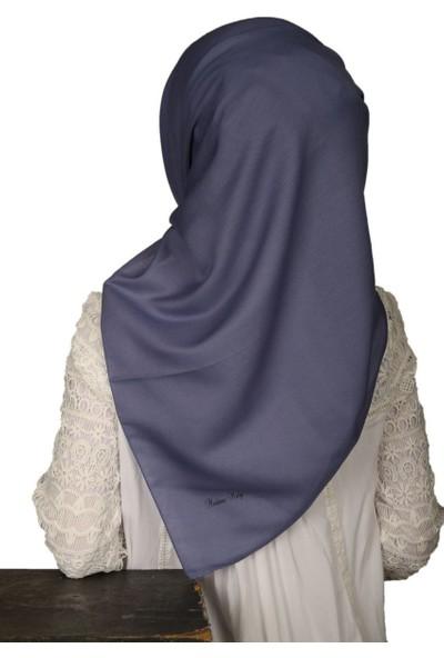 Madame Mary Soft Koton Eşarp Indigo
