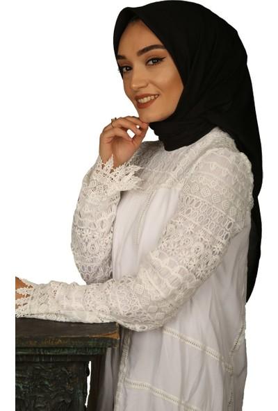 Madame Mary Soft Koton Eşarp Siyah