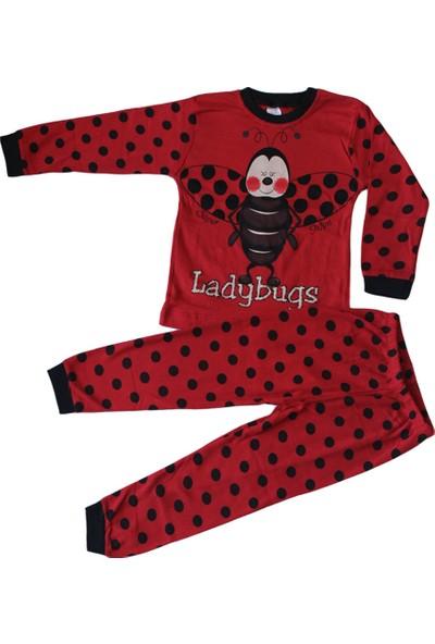 Süpermini Uğurböceği Figürlü 4-5-6 Yaş Kız Çocuk Pijama Takımı