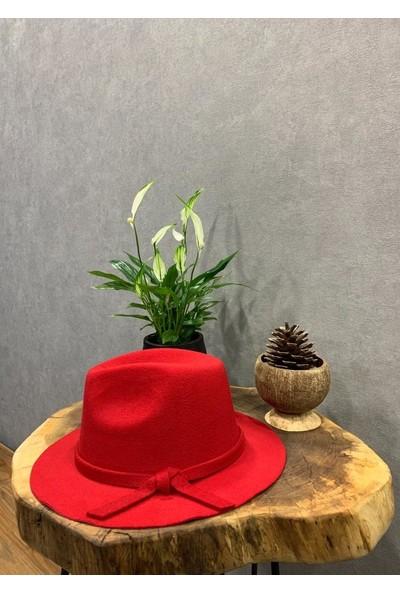 Felice Butik 1001 Kırmızı Fötr Kadın Şapka