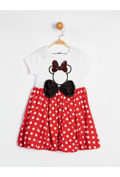 Disney Minnie Çocuk Elbise 15551