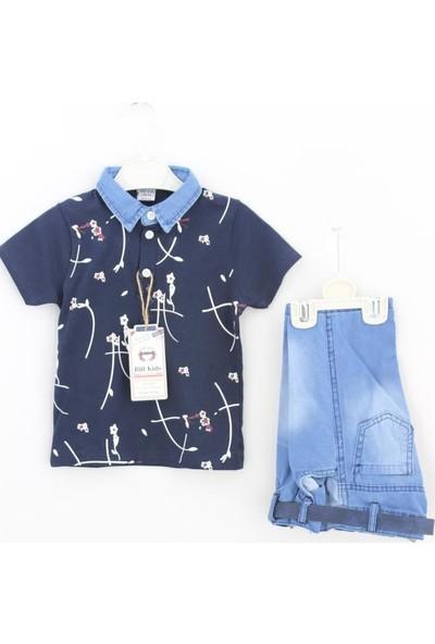 Bilkids Çiçekli Polo Erkek 2'li Takım Erkek Çocuk Giyim