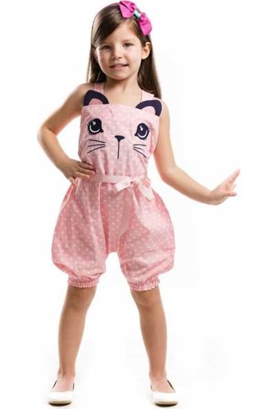 Dk Mini Kedicik Balon Kız Çocuk Tulum Elbise (2-6 Yaş)