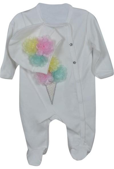 Sema Baby Cramerr Penye Külahlı Tulum Kız Bebek Giyim