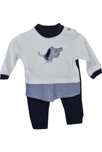 Şan Bebe Köpekli İkili Takım Bebek Giyim