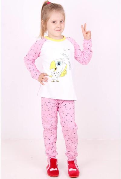 Toontoy Papağan Baskılı Çocuk Pijama Takımı