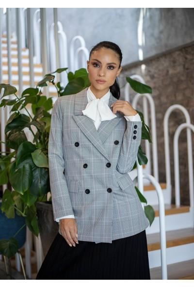 Habb Kadın Ekose Blazer Ceket