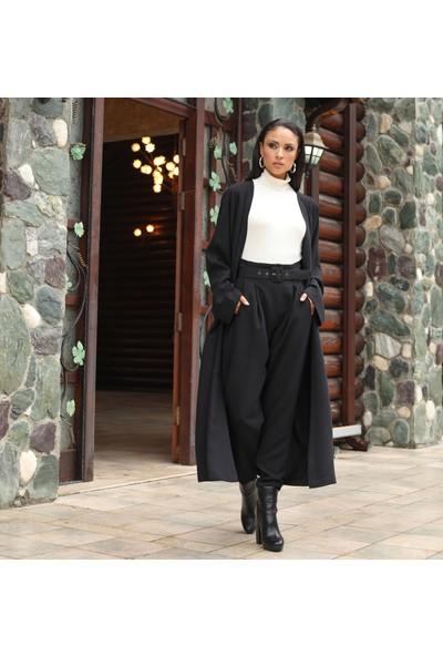 Habb Kadın Yüksek Bel Pileli Şalvar Pantolon