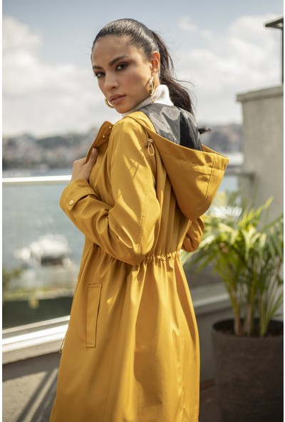 Habb Kadın Kisa Trenchcoat