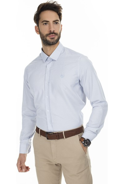 Sabri Özel Uzun Kollu Slim Fit Gömlek Erkek Uzun Kollu Gömlek 5431635