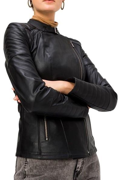 Derı Company Bd00661 Kadın Mont Siyah