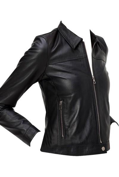 Derı Company Bd00659 Kadın Mont Siyah