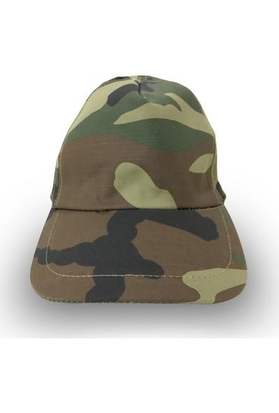 Sihirli Semboller Kamuflaj Desenli Şapka