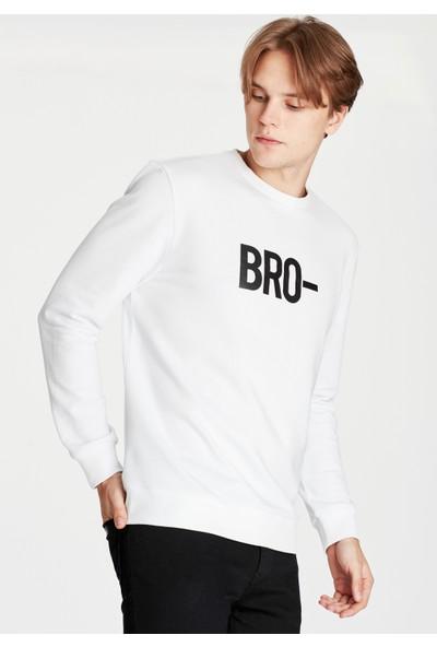 Mavi Bro Baskılı Black Pro Erkek Sweatshirt