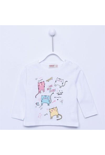Silversun Bebek Kız - Uzun Kollu T-Shirt - Bk-113308