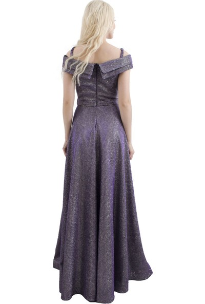Arda New Line Kadın Mor Abiye Elbise 1301399.03