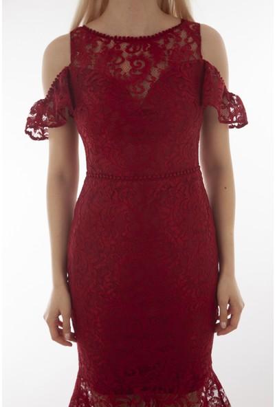 Arda New Line Kadın Bordo Elbise 130157.04