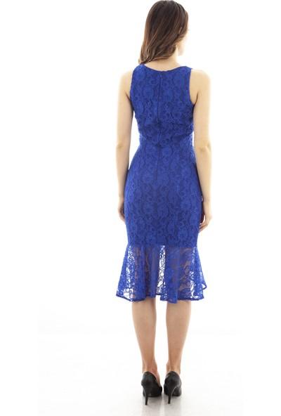 Arda New Line Kadın Saks Abiye Elbise 1608227-10.26