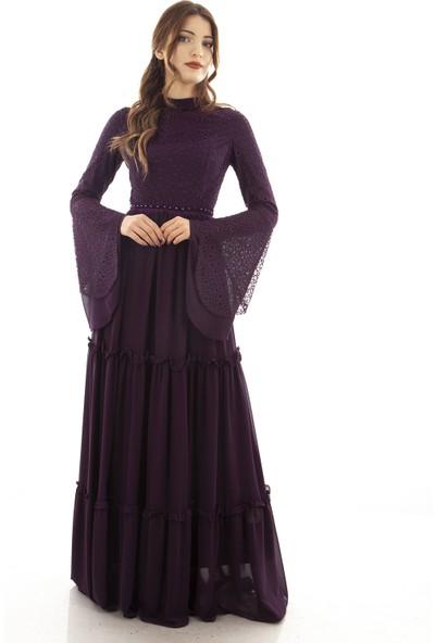 Arda New Line Kadın Mor Abiye Elbise 320049-10.03