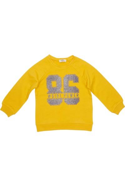 Soobe Kız Çocuk Sweatshirt Koyu Sarı (3-7 Yaş)