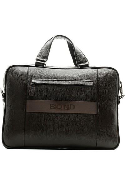 Bond 1104-286 Kahve Hakiki Deri Erkek Evrak Çantası