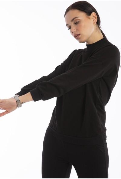 Hds Hadise Siyah Dik Yaka Sweatshirt 3323