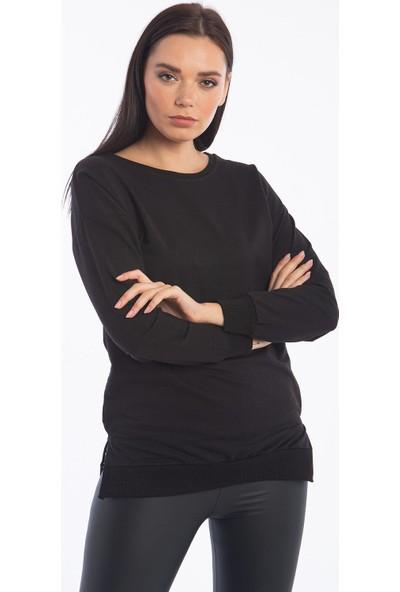 Hds Hadise Siyah Salaş Kalıp Sweatshirt 3569