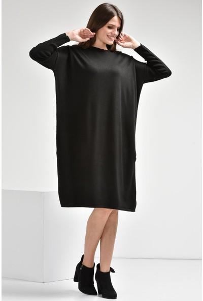 Luzzi Siyah Triko Elbise