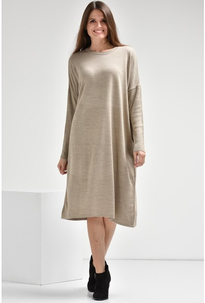 Luzzi Vizon Triko Elbise