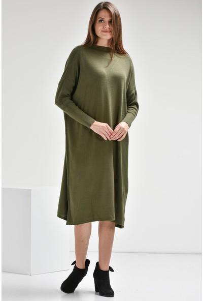 Luzzi Haki Triko Elbise