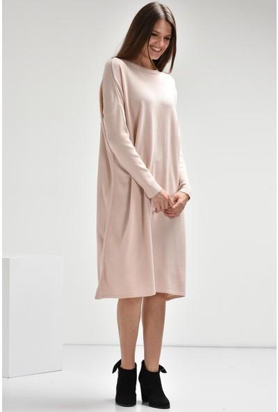 Luzzi Pudra Triko Elbise