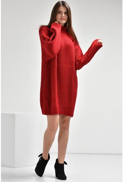 Luzzi Kırmızı Triko Tunik
