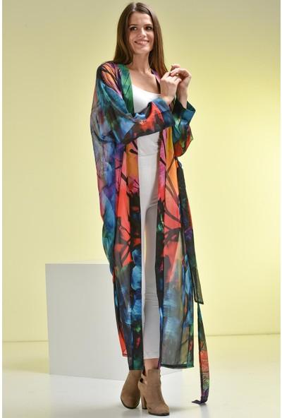 Bluecat Çok Renkli Sunset Kimono