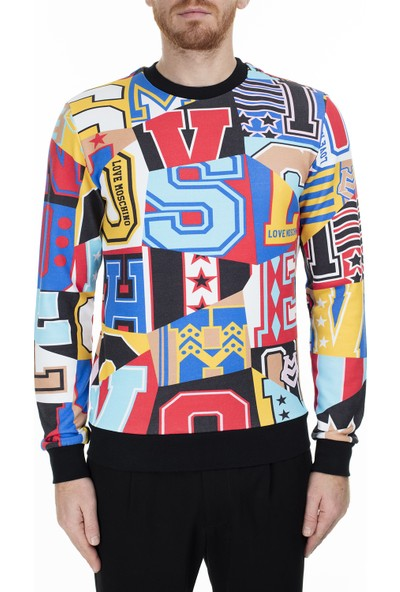 Love Moschino Erkek Sweatshirt M648200M4010 0008