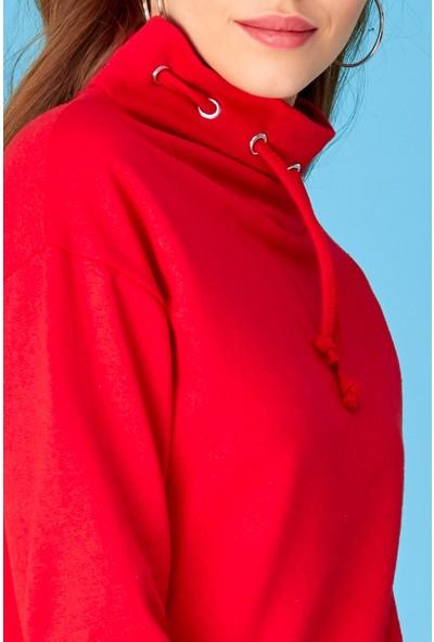 FullaModa Kuş Gözlü Sweatshirt