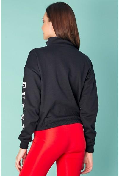 FullaModa Nakışlı Sweatshirt