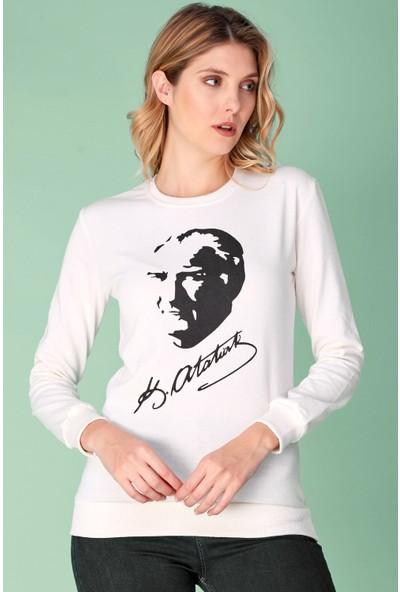 FullaModa Atatürk Baskılı Sweatshirt