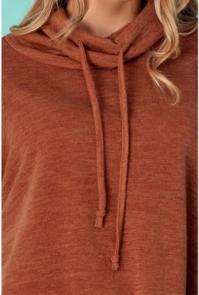 FullaModa Şal Yaka Basic Sweatshirt