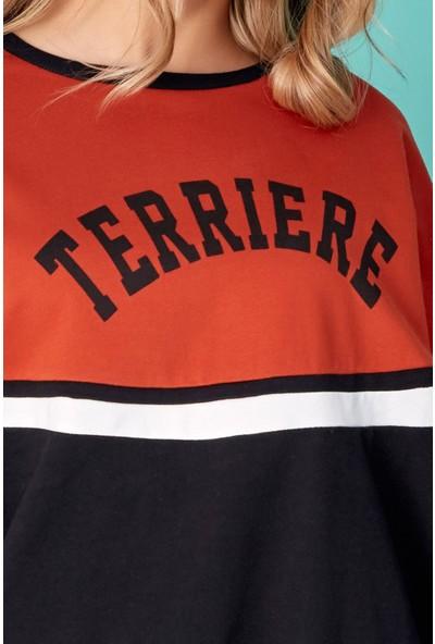 FullaModa Terriere Baskılı Sweatshirt